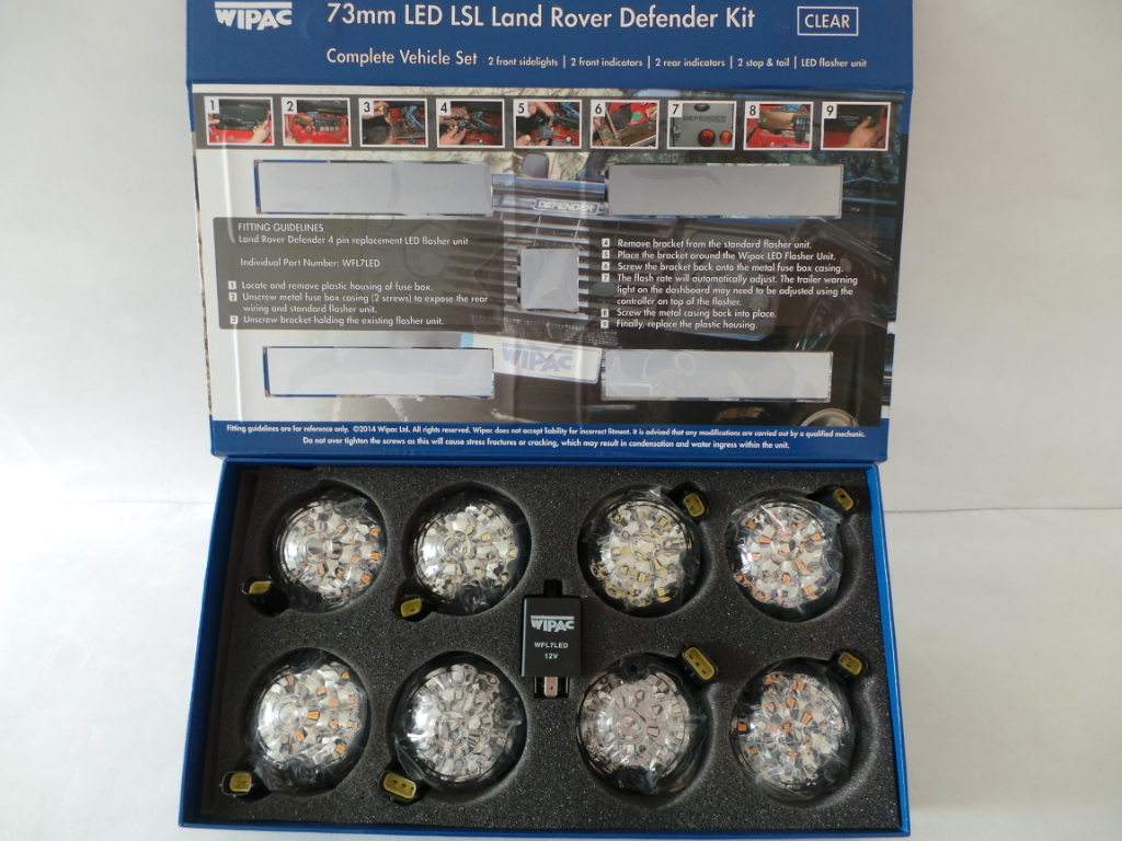 Land Rover Defender Wipac 73mm Clear Illuminate Red Amber Led Fuse Box Location Click On The Image To Enlarge