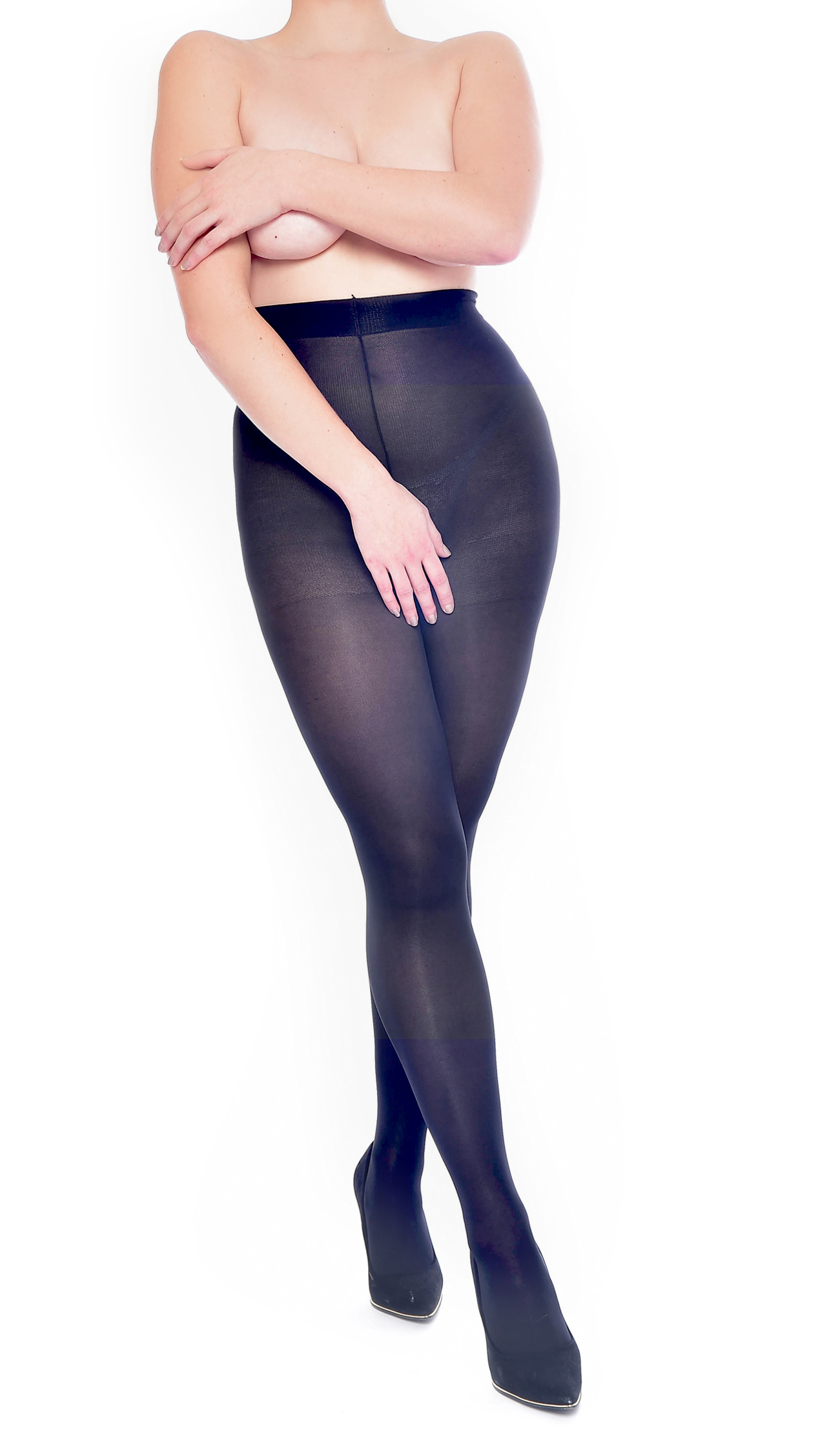 b9c80d2530a72 100 DENIER BLACK OPAQUE CROTCHLESS OPEN CROTCH TIGHTS ONE SIZE ...