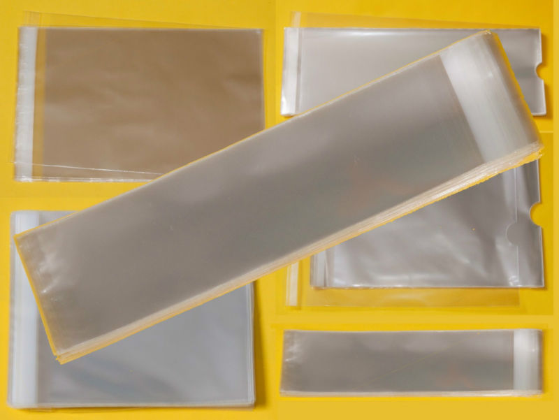50mm Wide Clear Tall//Slim Cello Display Bags Cellophane Bag for Bookmarks