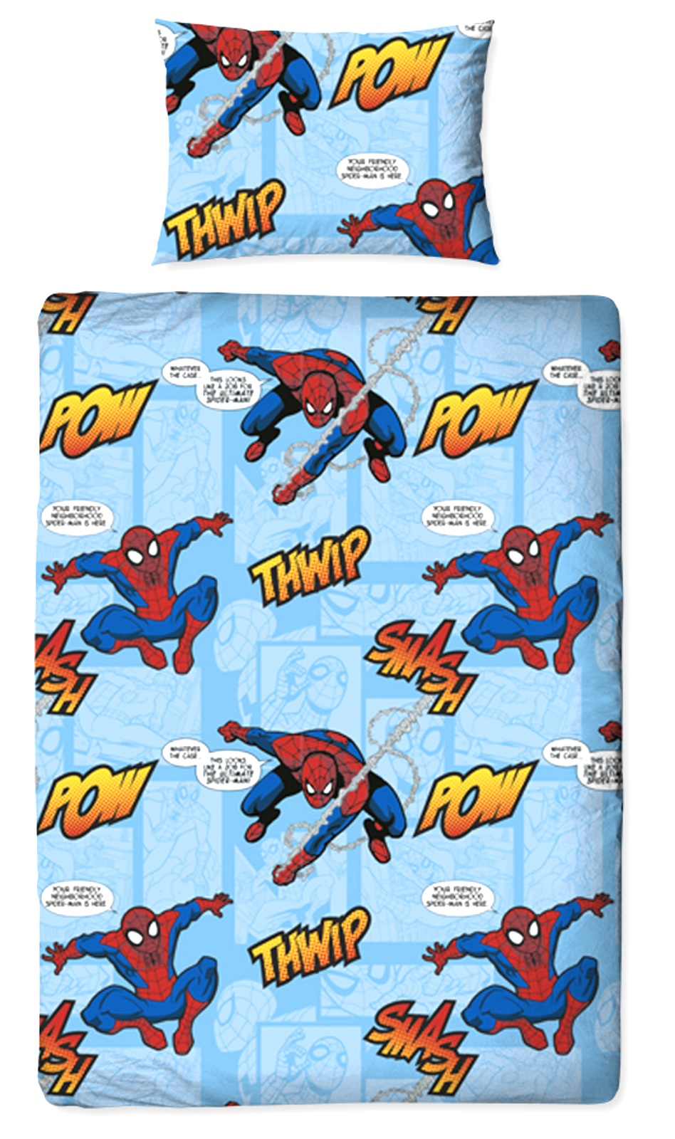 Spiderman Thwip 4 In 1 Junior Cot Bed Bundle Bedding Quilt