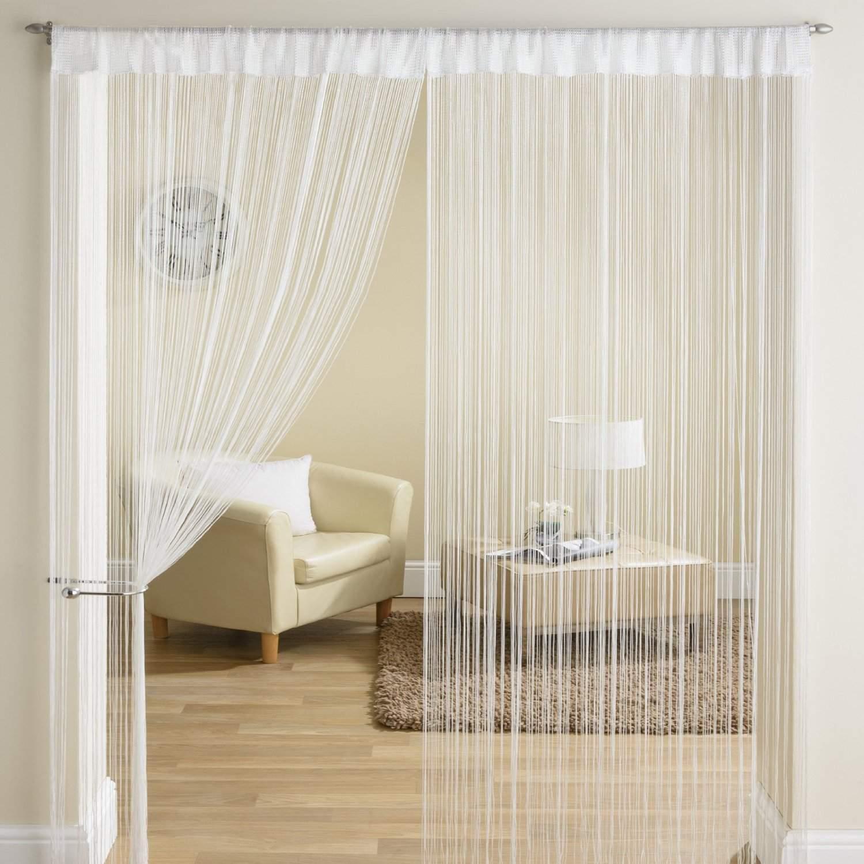 classique fil frange panneau diviseur fen tre rideau de porte 90x200cm blanc ebay. Black Bedroom Furniture Sets. Home Design Ideas