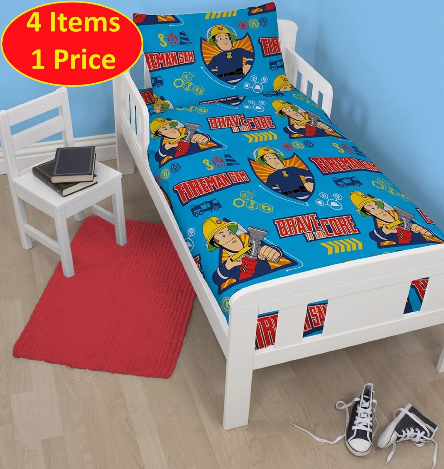 Fireman Sam Toddler Bedding Bundle