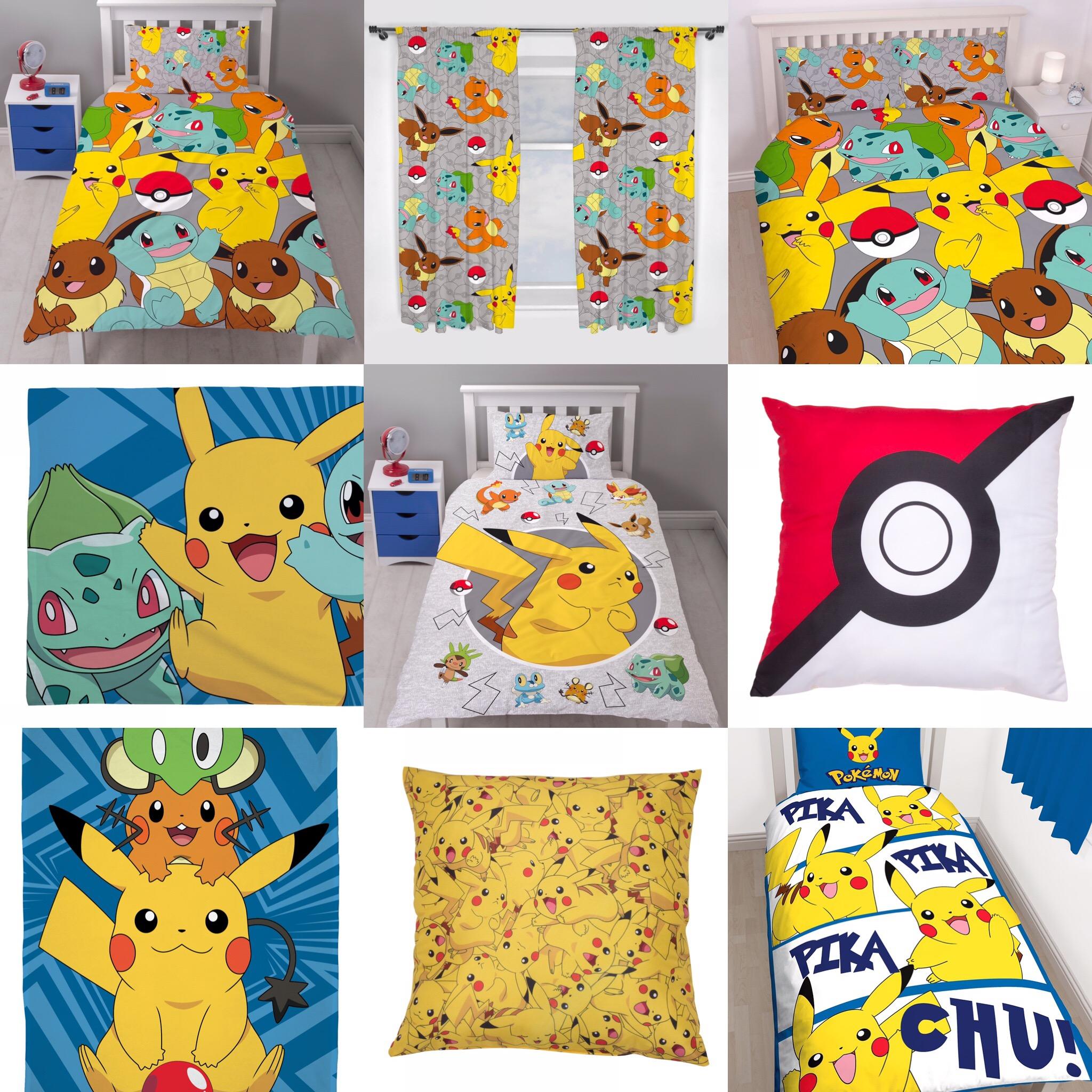 Pokemon Kids Boys Girls Bedrooms Choose 1 Or More