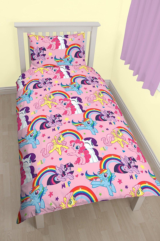 new my little pony 'party' single duvet quilt cover set