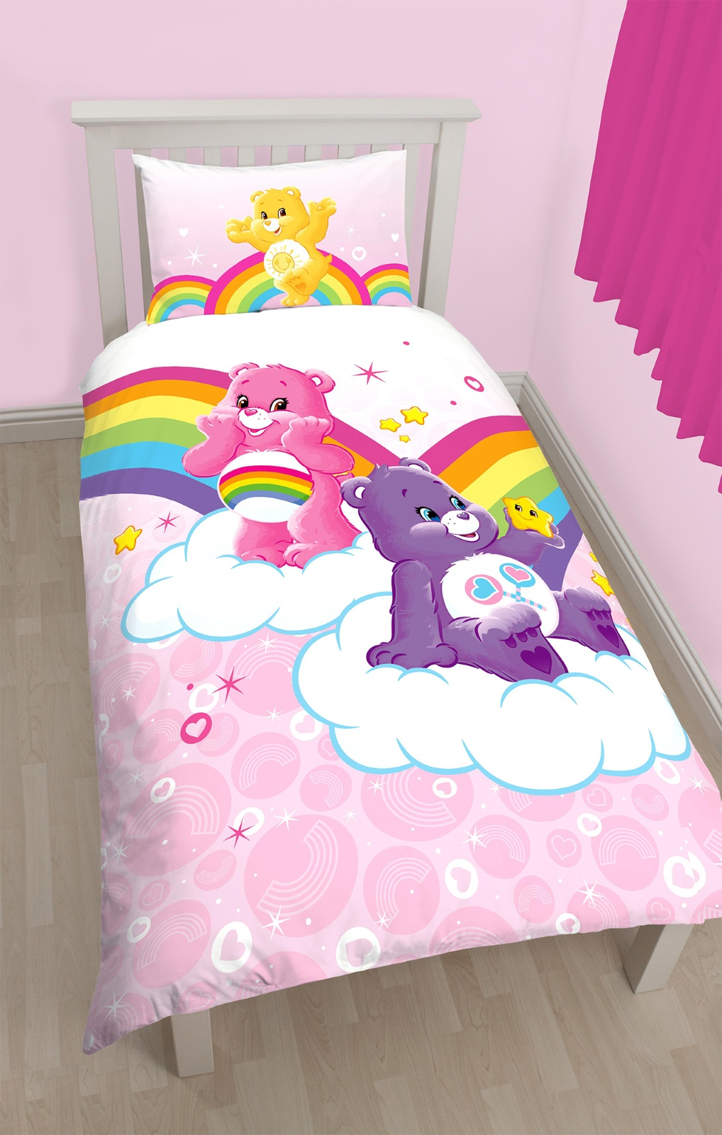 gl cksb rchis rosa baumwolle mischung einzelbett bettdecke bettbezug set ebay. Black Bedroom Furniture Sets. Home Design Ideas