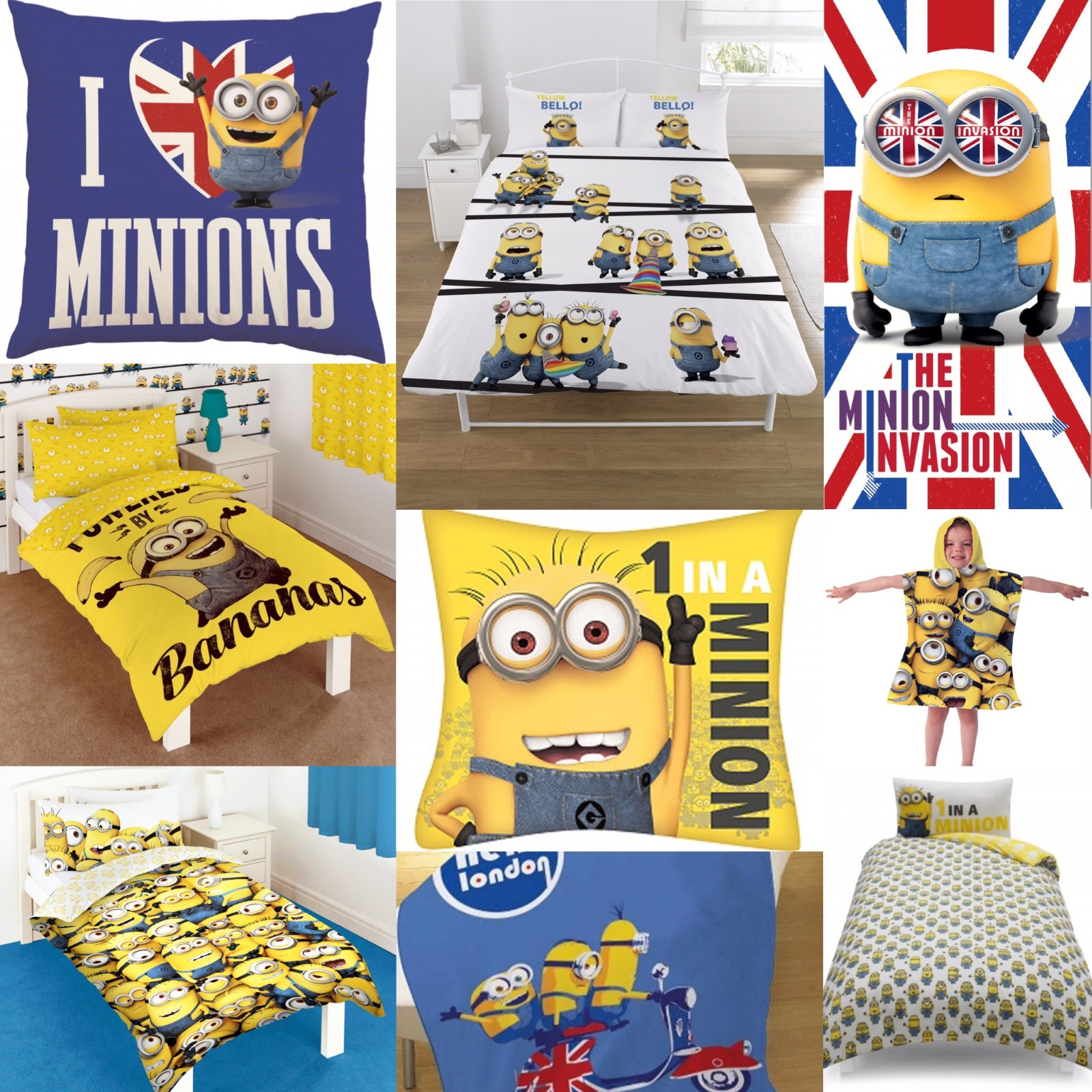 Details about NEW DESPICABLE ME MINIONS BEDROOM ACCESSORIES GIFT PRESENT -  Choose 1 or More