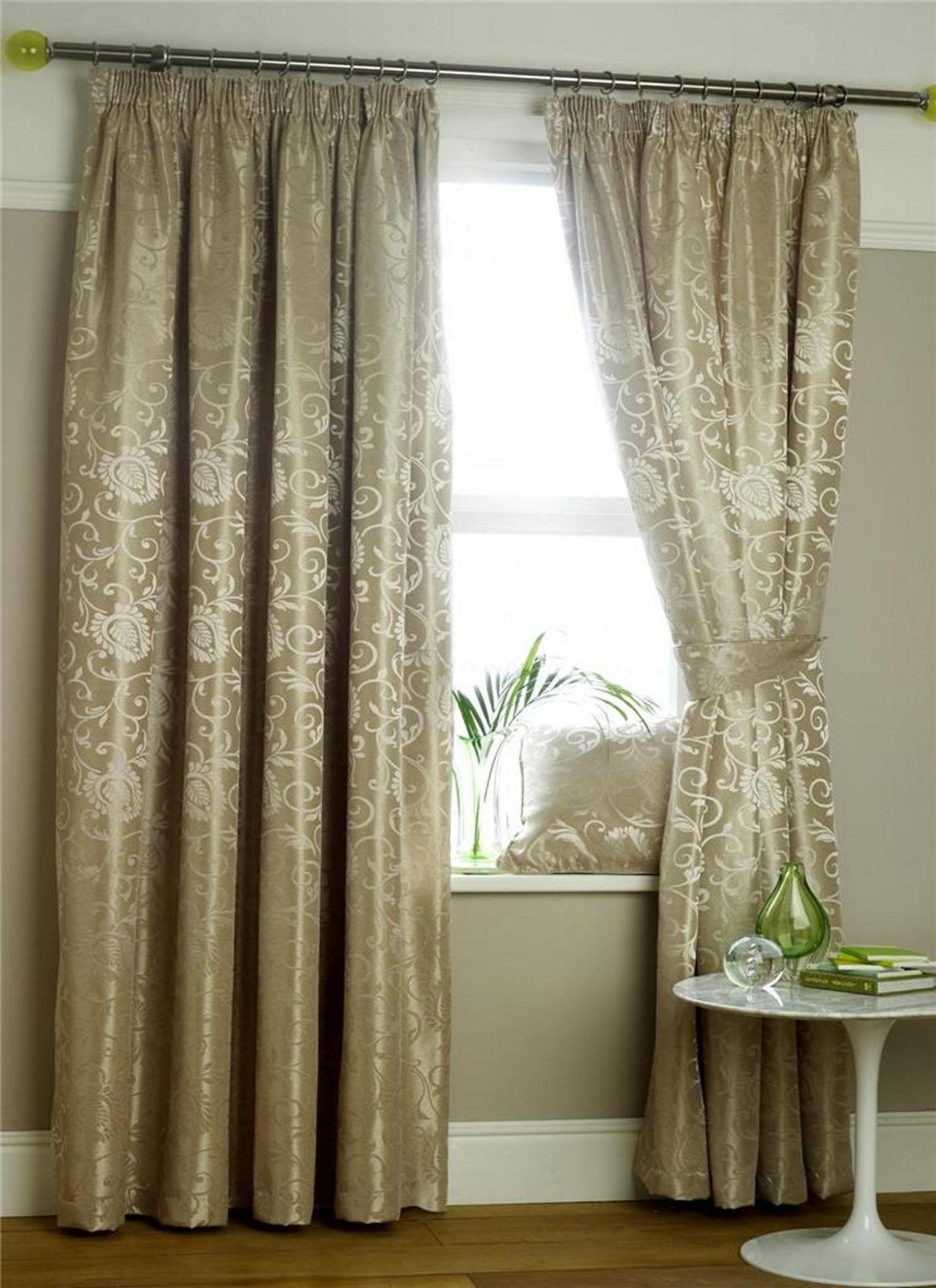 neu luxus mirabel blumen jacquard gardinen bleistiftfalten ausgekleidet panel ebay. Black Bedroom Furniture Sets. Home Design Ideas