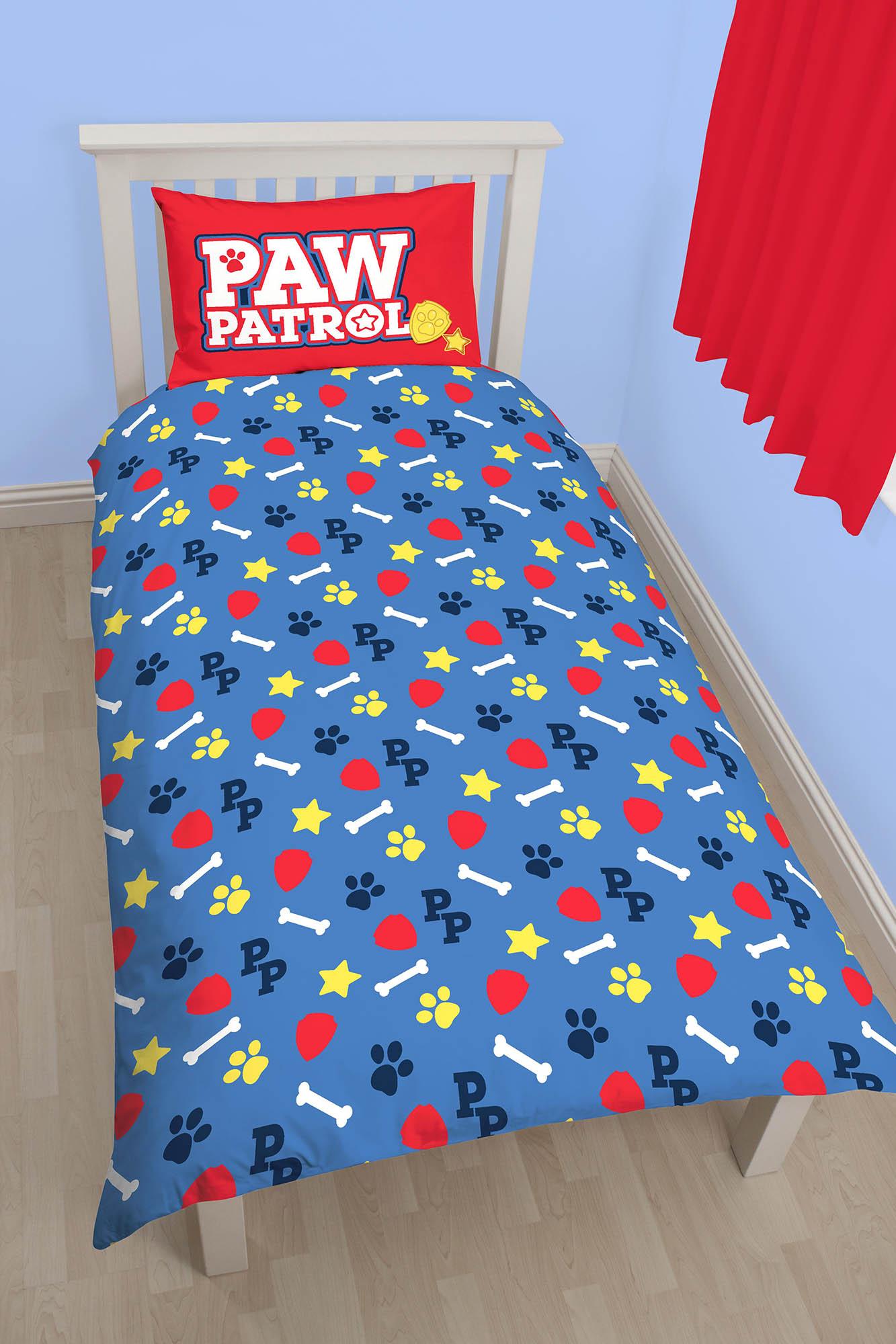 neu paw patrol pawsome einzelbett bettw sche satz blau kinder ebay. Black Bedroom Furniture Sets. Home Design Ideas