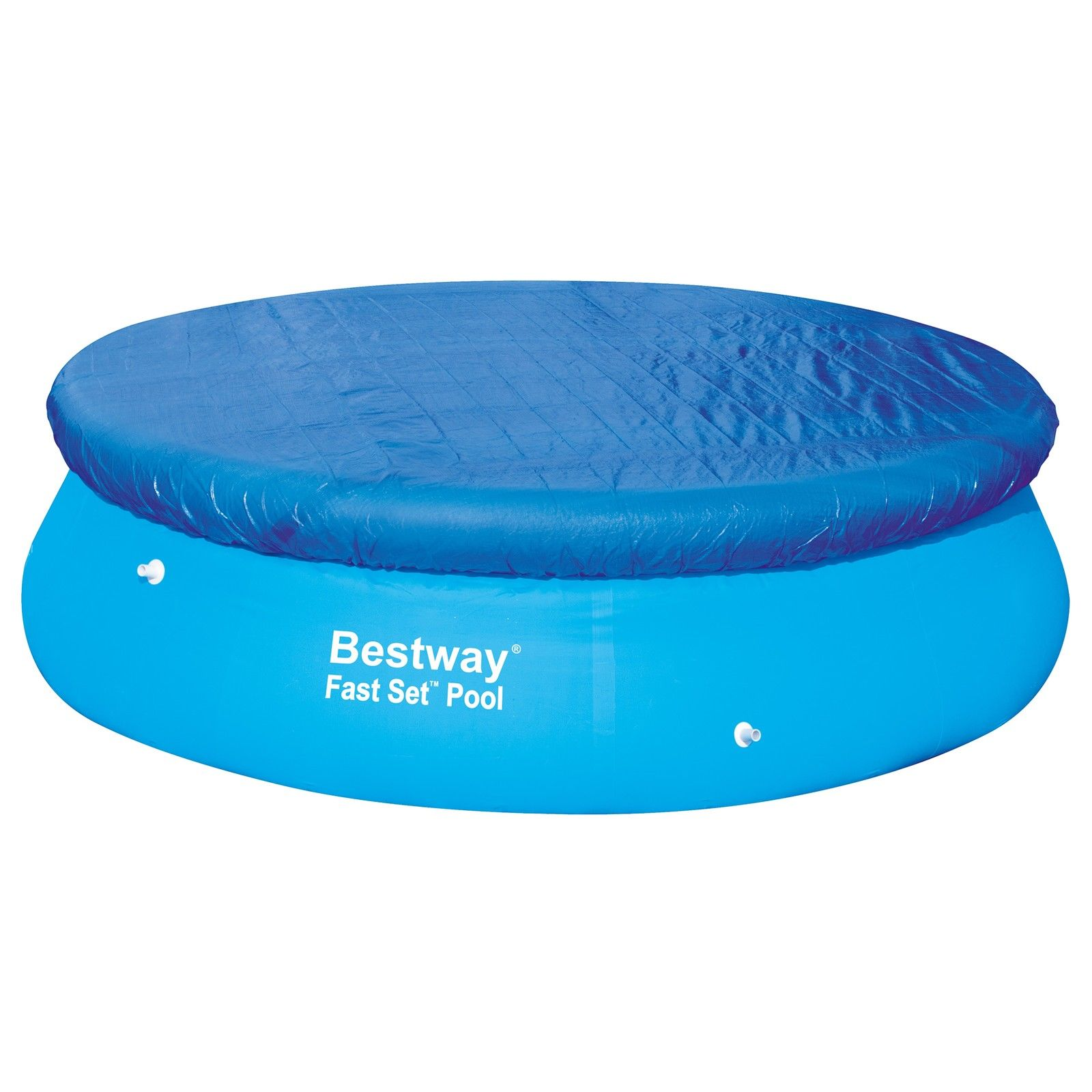 Bestway 12ft fast set swimming paddling pool cover with for Obi fast set pool