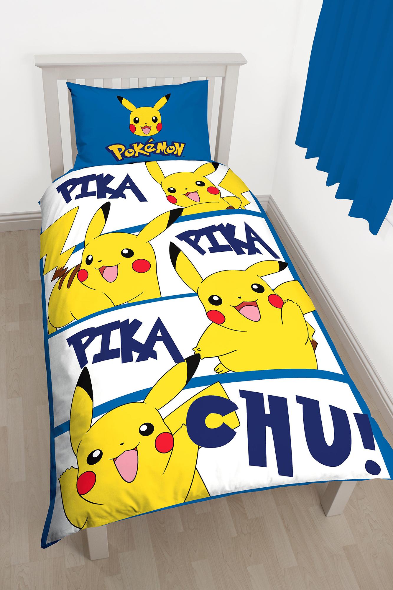 New Pokemon Go Pikachu Single Duvet Quilt Cover Bedding
