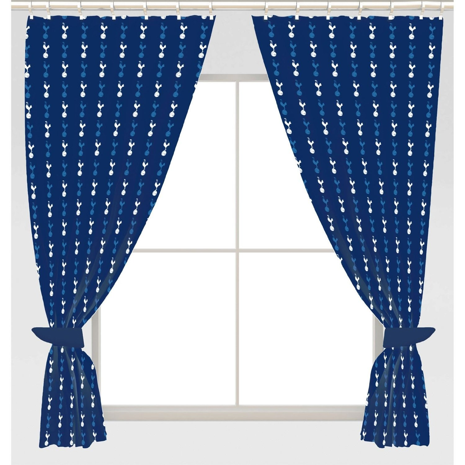 Tottenham Hotspur F C Crest Design Pair Of Curtains 54 Inch