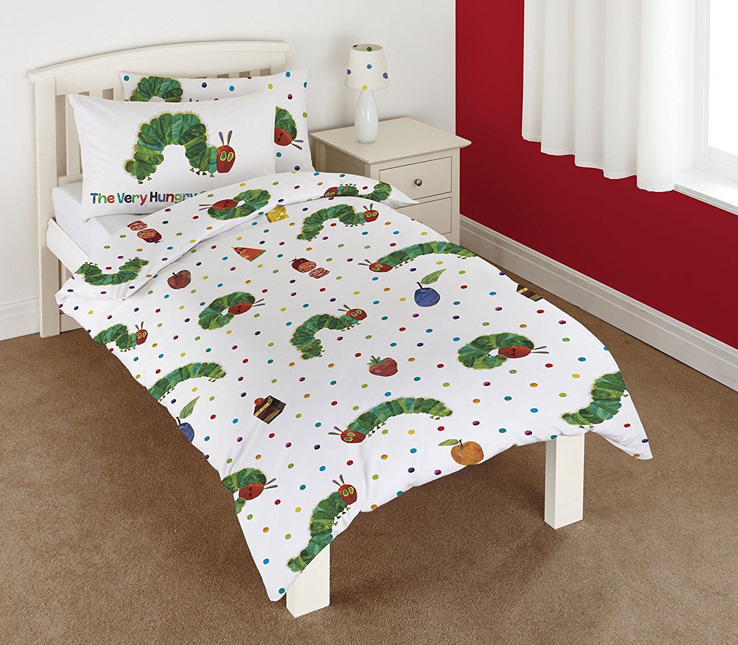 COTTON THE VERY HUNGRY CATERPILLAR JUNIOR TODDLER COT BED DUVET