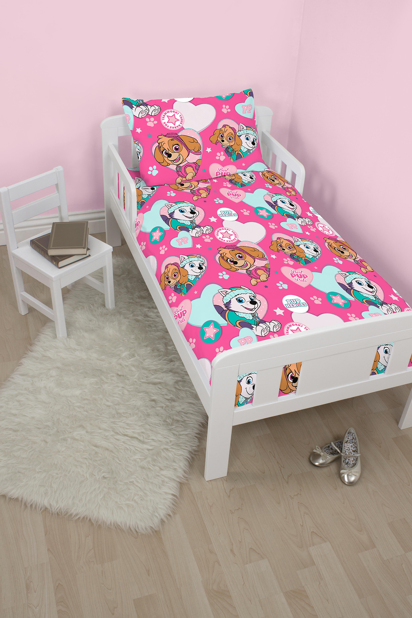 neu paw patrol kinderbett kleinkind baby steppdecke. Black Bedroom Furniture Sets. Home Design Ideas