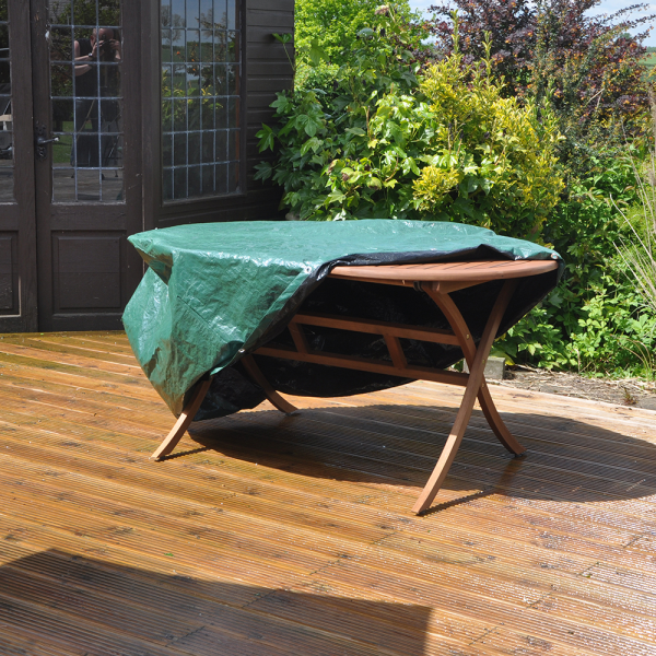 New kingfisher waterproof patio table set cover oval for Oval patio set cover