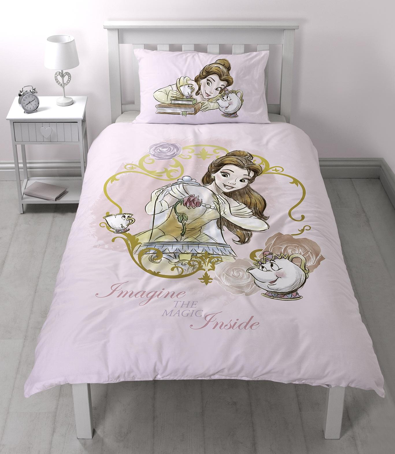 Disney Princess Beauty And The Beast Single Duvet Quilt