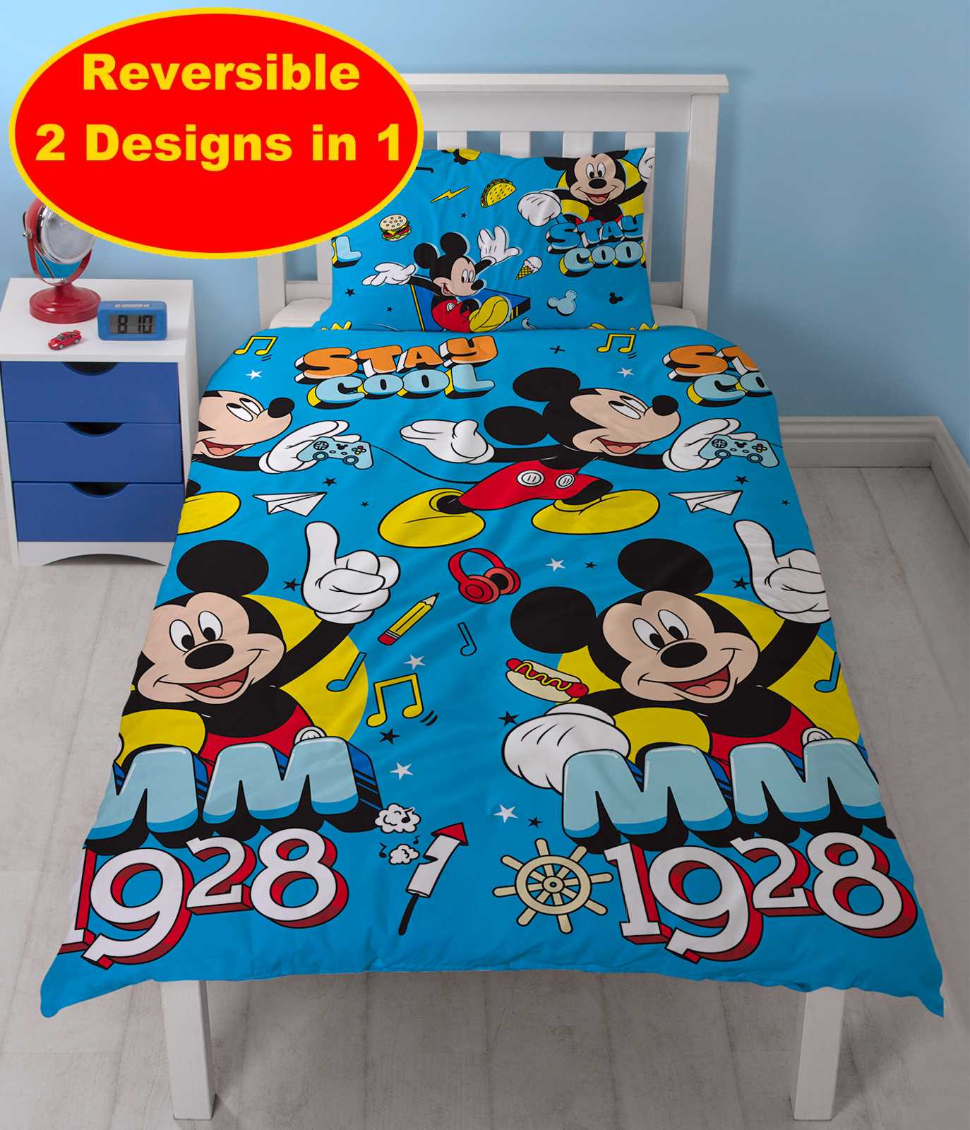 disney mickey mouse k hl einzelbett bettw sche satz. Black Bedroom Furniture Sets. Home Design Ideas
