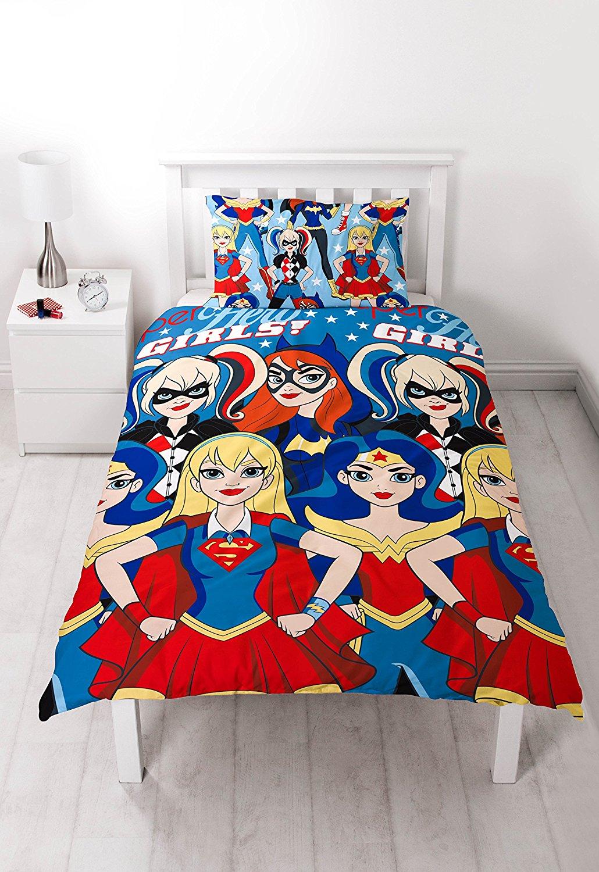 Filles Super H Ros Wonderwoman Harley Quinn Simple Ensemble Housse