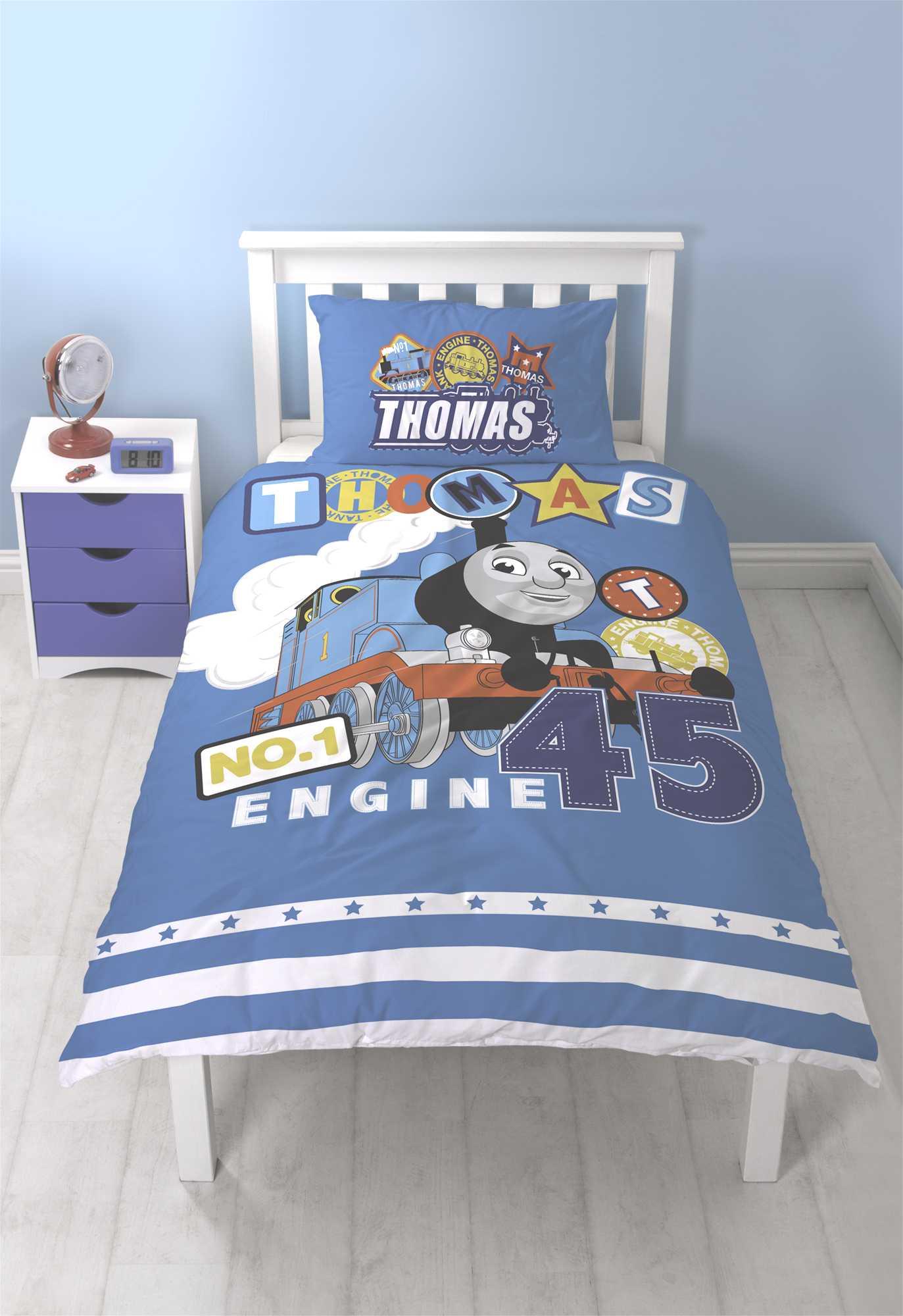 OFFICIAL THOMAS THE TANK ENGINE SINGLE DUVET QUILT COVER SET BOYS ... : thomas single bed quilt cover - Adamdwight.com