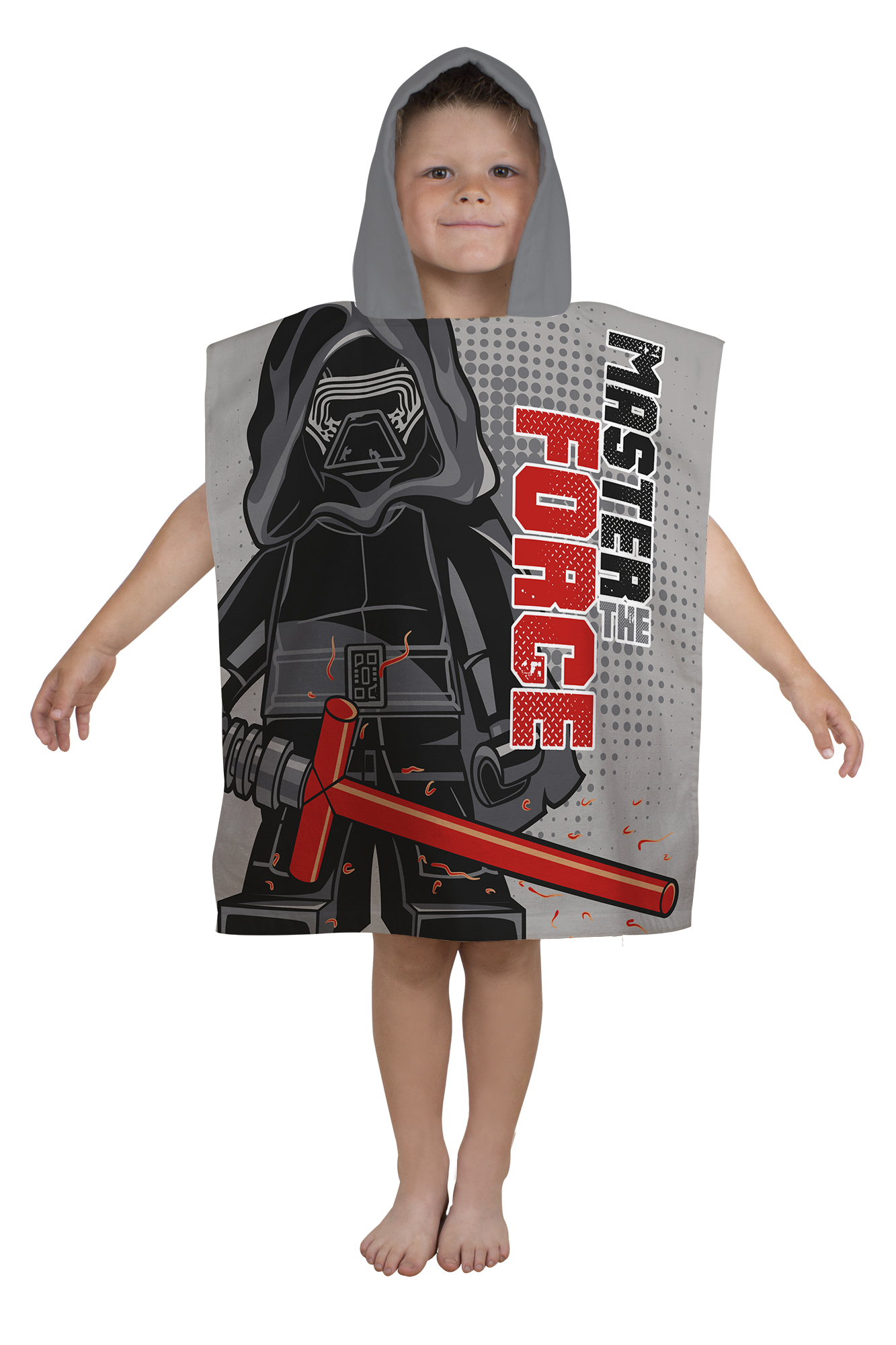 lego star wars superweich kapuzen poncho strandbad urlaub handtuch jungen ebay. Black Bedroom Furniture Sets. Home Design Ideas