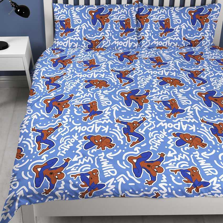 Spiderman Popart Design Double Quilt Cover Set