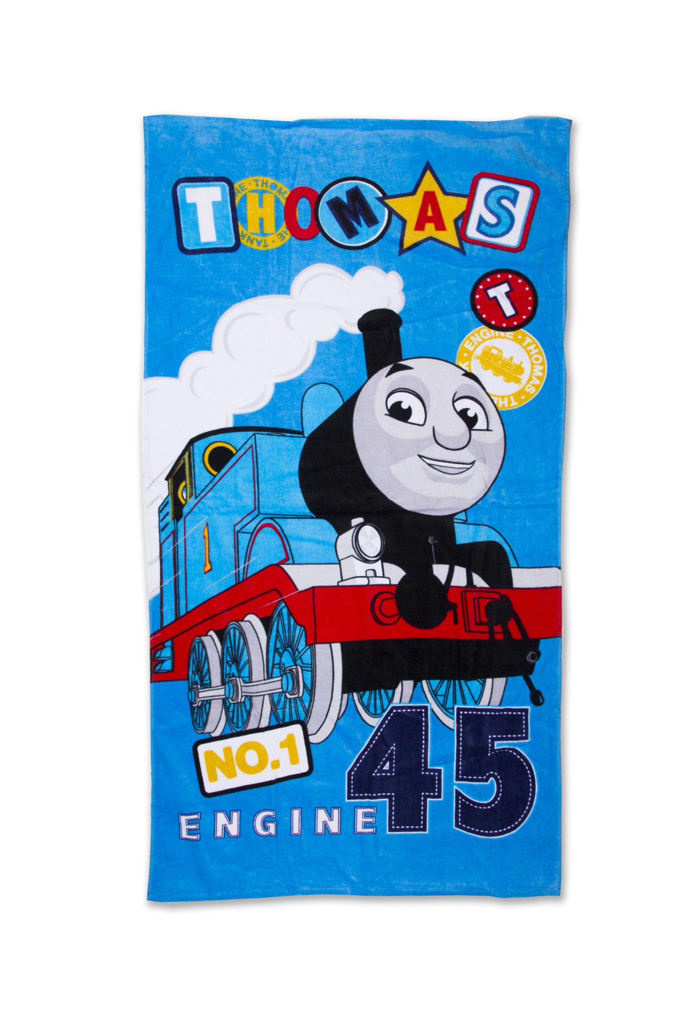 Extra Large Thomas The Tank Engine Blue Beach Bath Towel