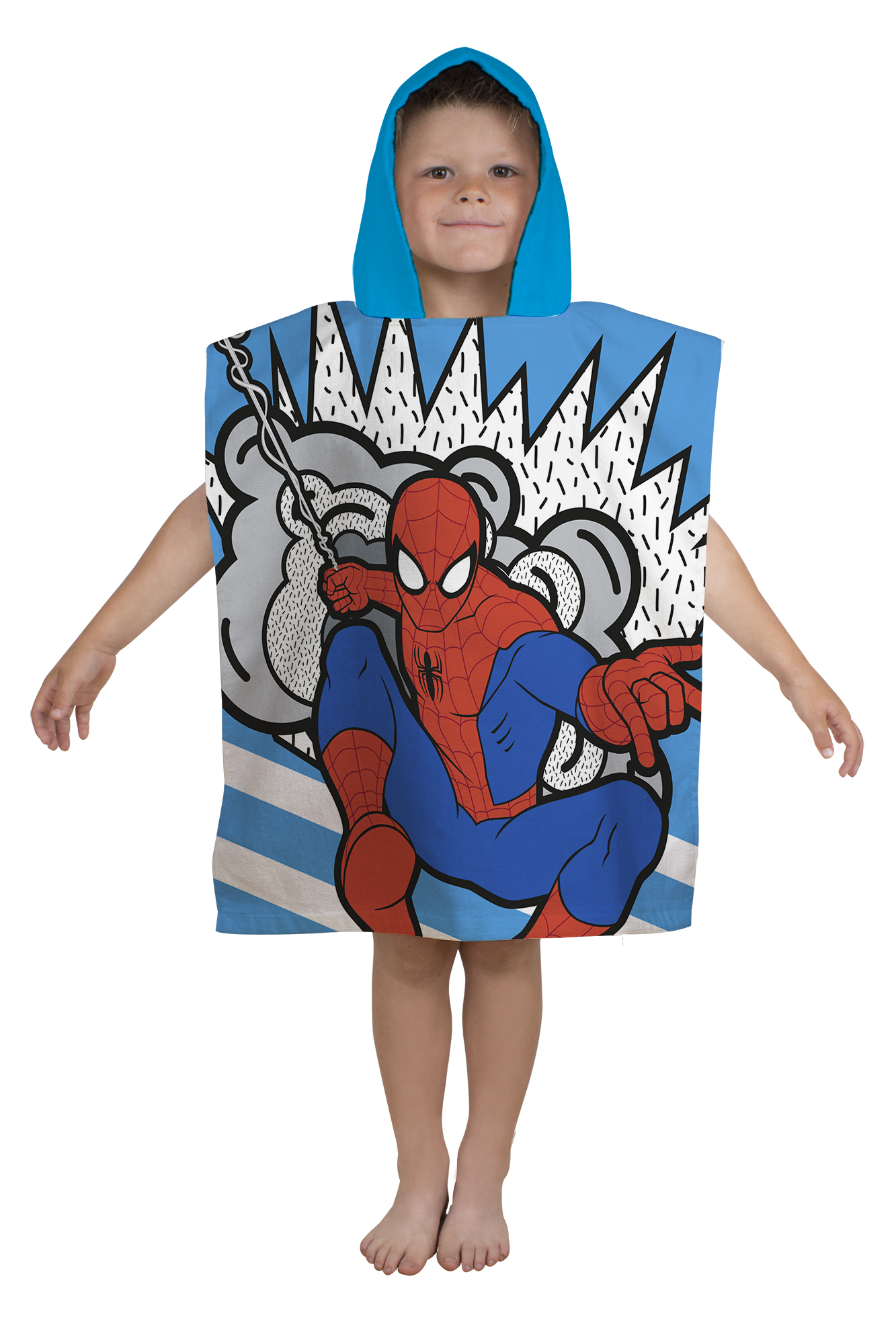 neu spiderman 39 abstrakt 39 kapuzen poncho handtuch strandbad jungen kinder ebay. Black Bedroom Furniture Sets. Home Design Ideas