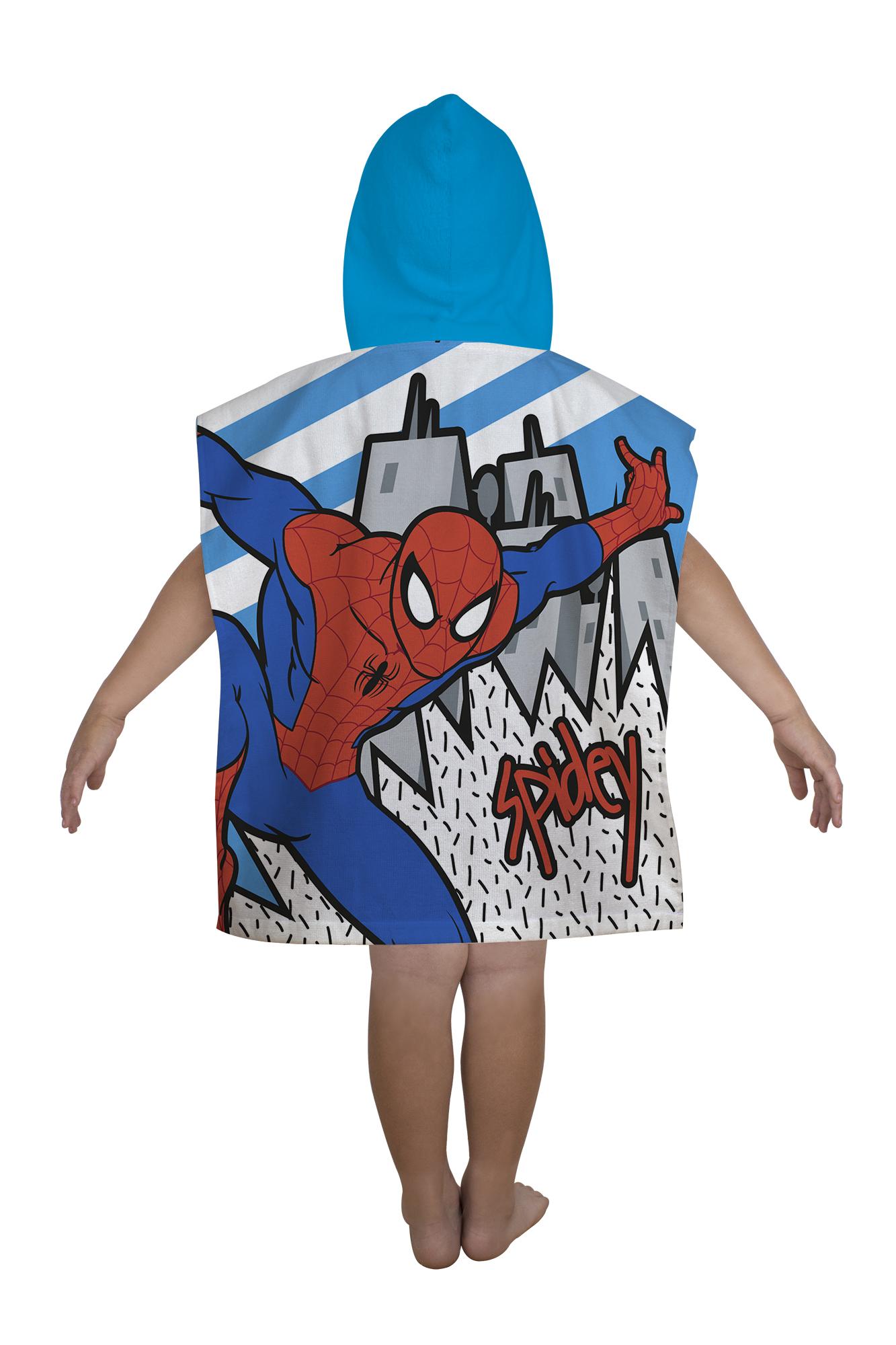 neu spiderman 39 abstrakt 39 kapuzen poncho handtuch strandbad. Black Bedroom Furniture Sets. Home Design Ideas
