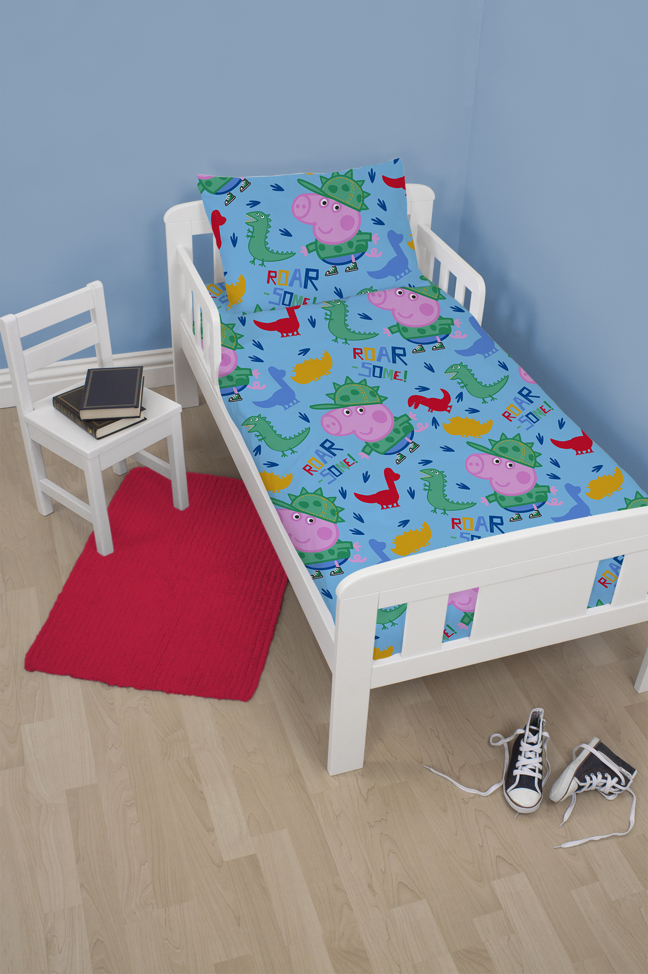 New peppa pig george junior toddler infant baby boys blue for George pig bedroom ideas