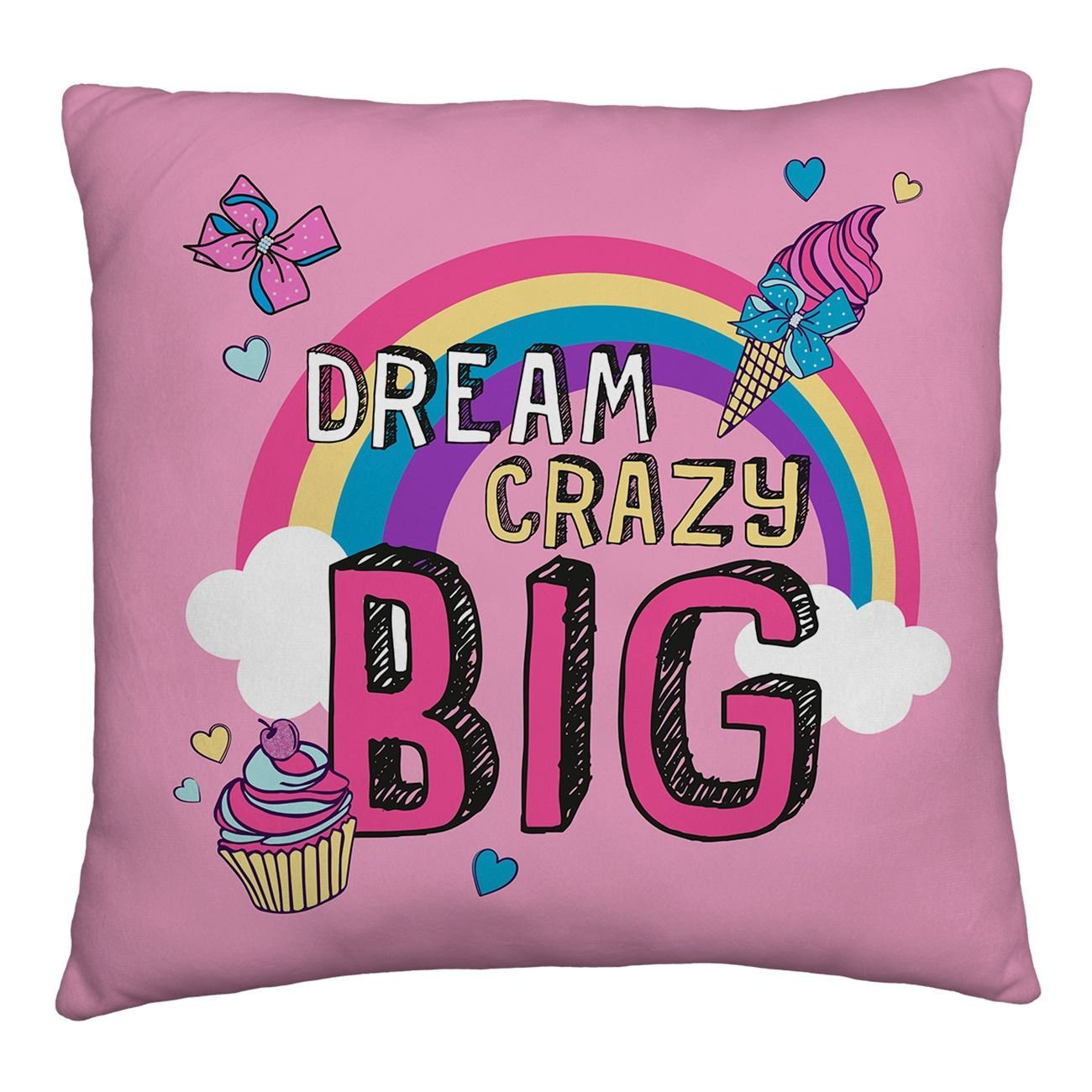 neu jojo siwa gro e schleife kissen m dchen kinder ventilator pink ebay. Black Bedroom Furniture Sets. Home Design Ideas
