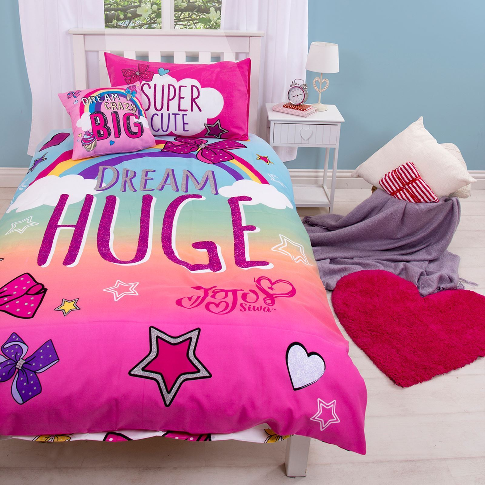 Jojo Siwa With The Big Bow Single Duvet Quilt Cover Set