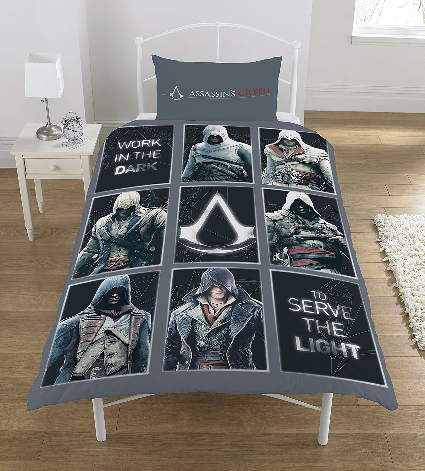 Assassins Creed Game Single Duvet Quilt Cover Set Boys