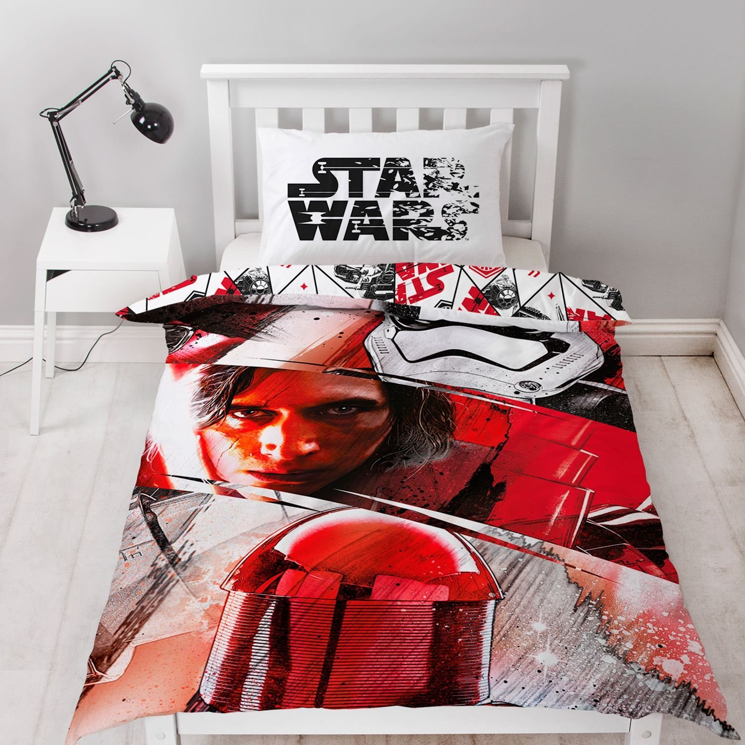 New Star Wars The Last Jedi Single Duvet Quilt Cover Set
