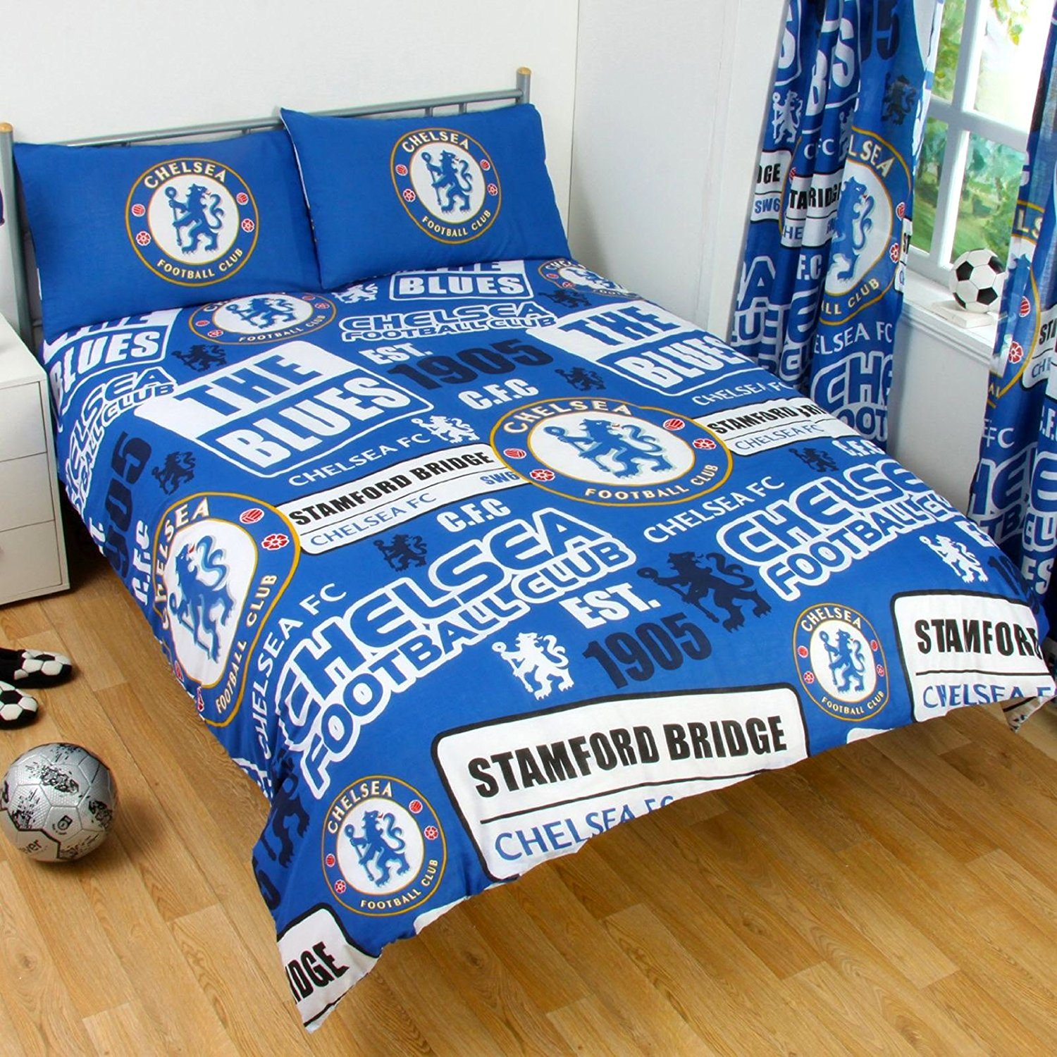 Official Chelsea Football Club Double Duvet Quilt Cover