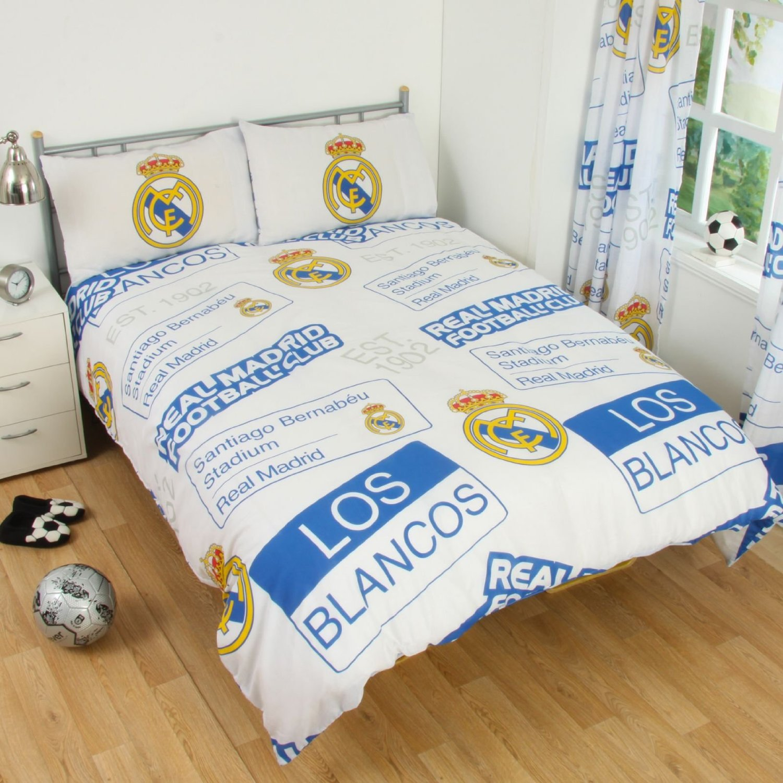 Offiziell Real Madrid Fußballverein Einzeln Bettdecke Bettbezug Set