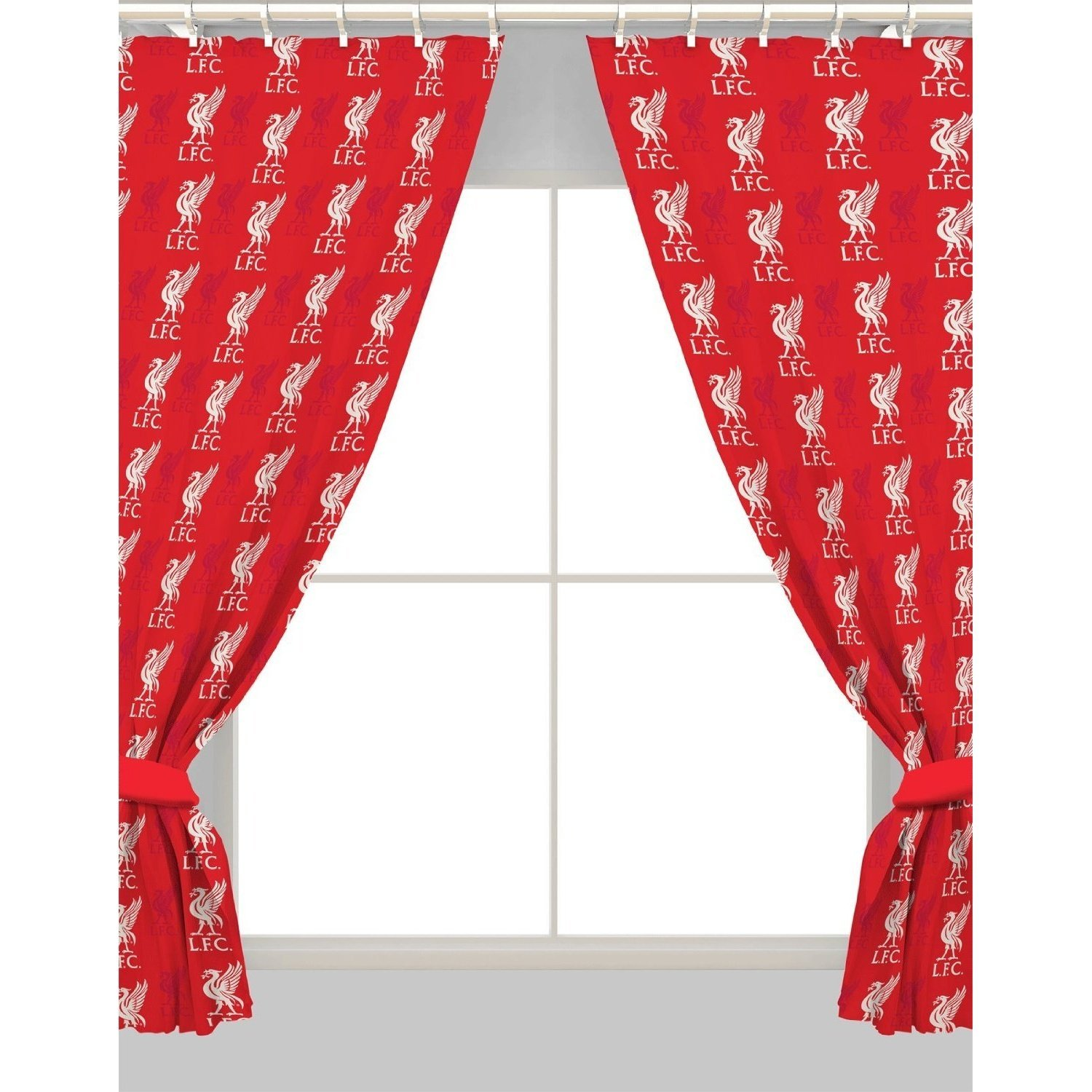 Official LIVERPOOL Football Club Curtains Kids Boys Red