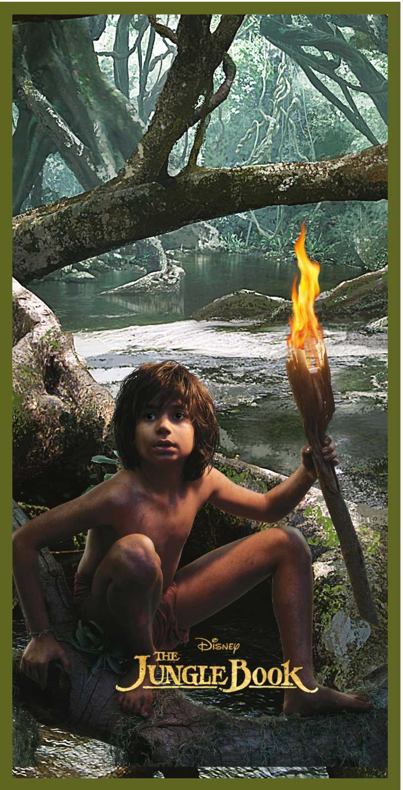 New Jungle Book Shere Khan Mowgli Beach Bath Towel Kids 70cm x 140cm