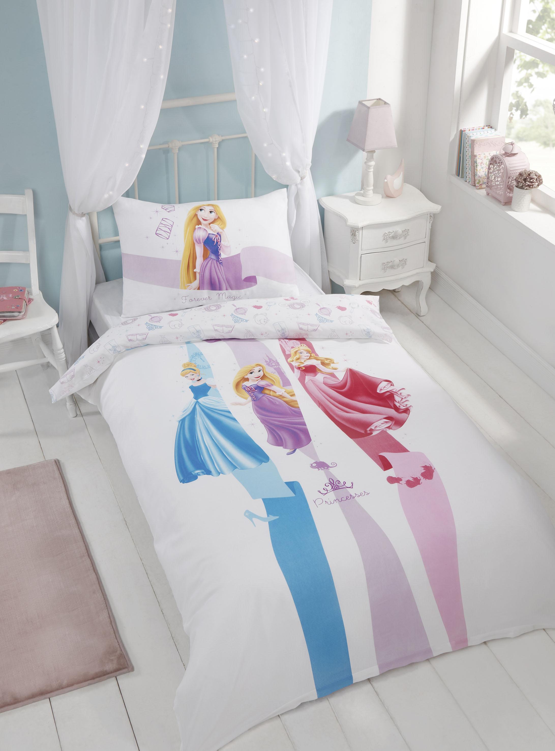 Copripiumino Principesse.Ufficiale Principesse Disney Singolo Set Copripiumino Da Bambina