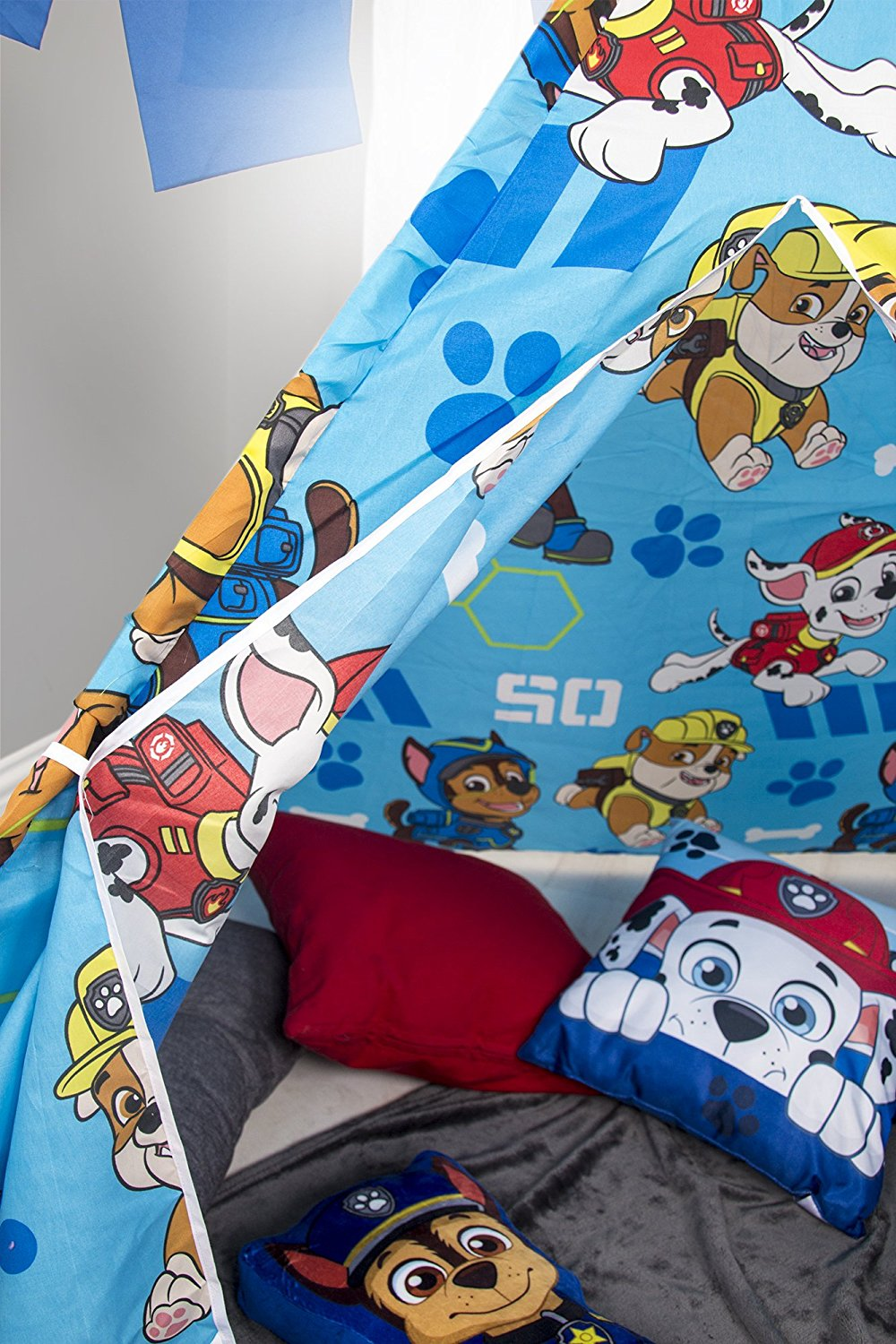 PAW PATROL DASH Teepee Tent Playhouse Tipi Outdoor Indoor Boys Kids Child Gift