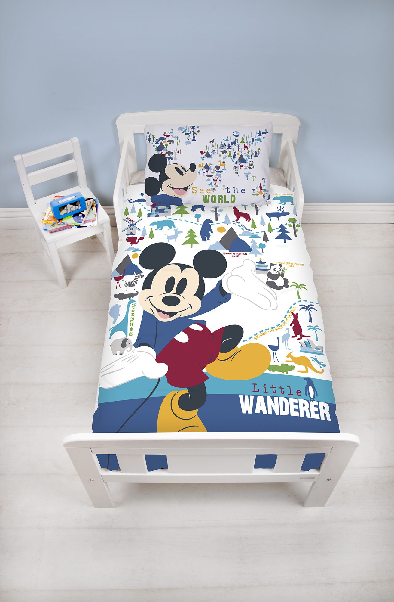 New Official Mickey Mouse Design Junior Size Duvet Cover &