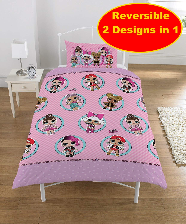 Picture of: New Lol Surprise Single Duvet Quilt Cover Set Girls Kids Pink Bedroom Gift