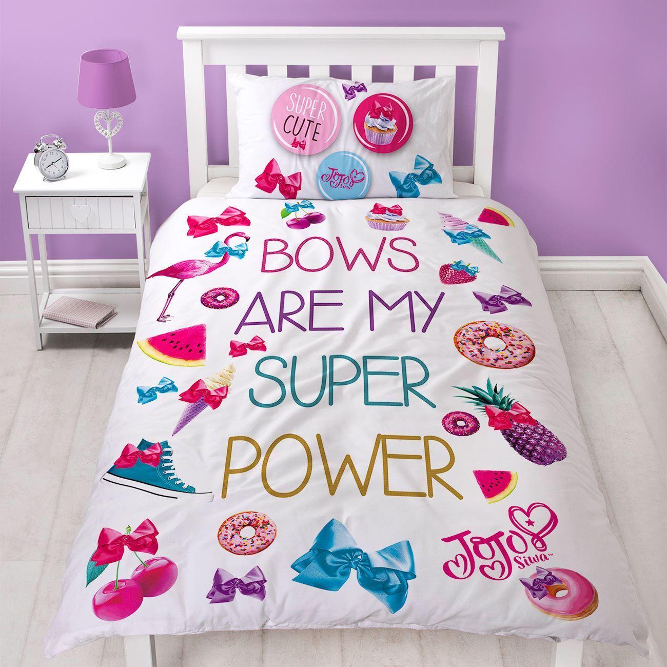Official Jojo Siwa Super Single Duvet Quilt Cover Set Girls Kids