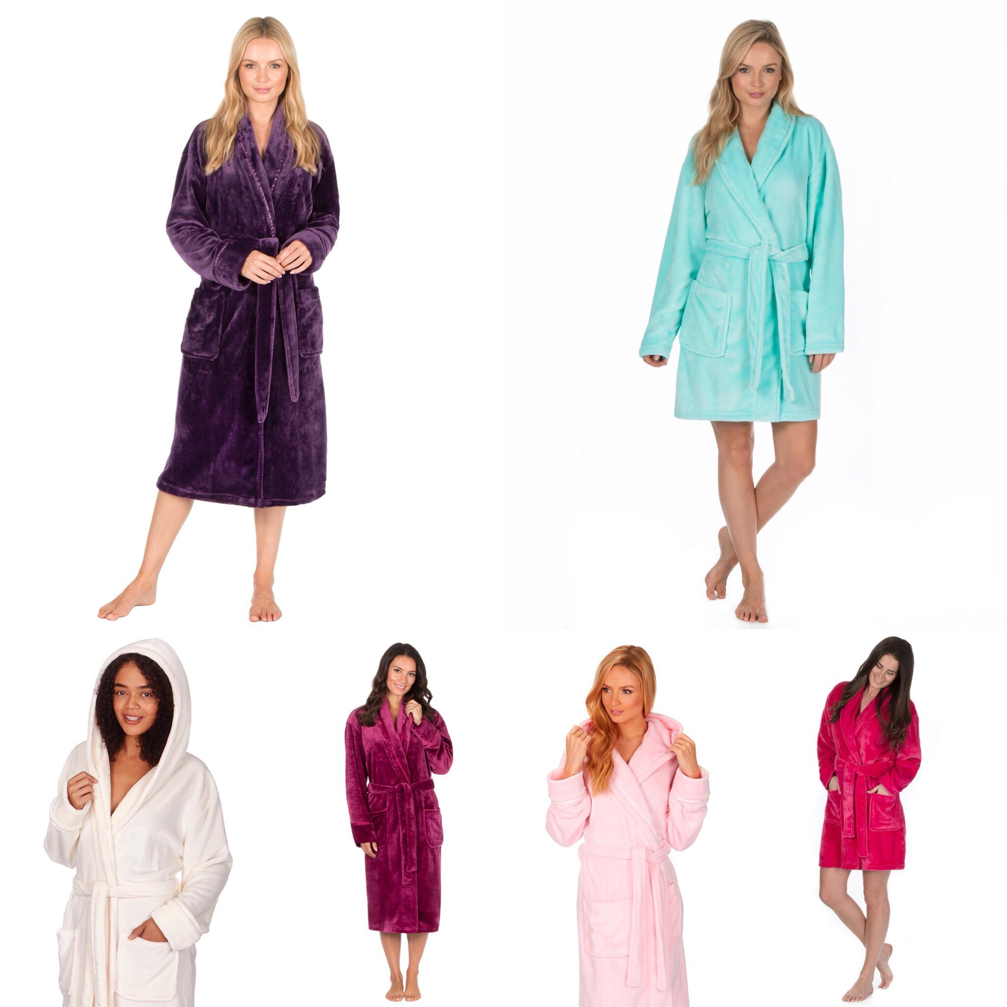 NEW Ladies Forever Dreaming Robe Dressing Gown Gift Nightwear Lounge ...