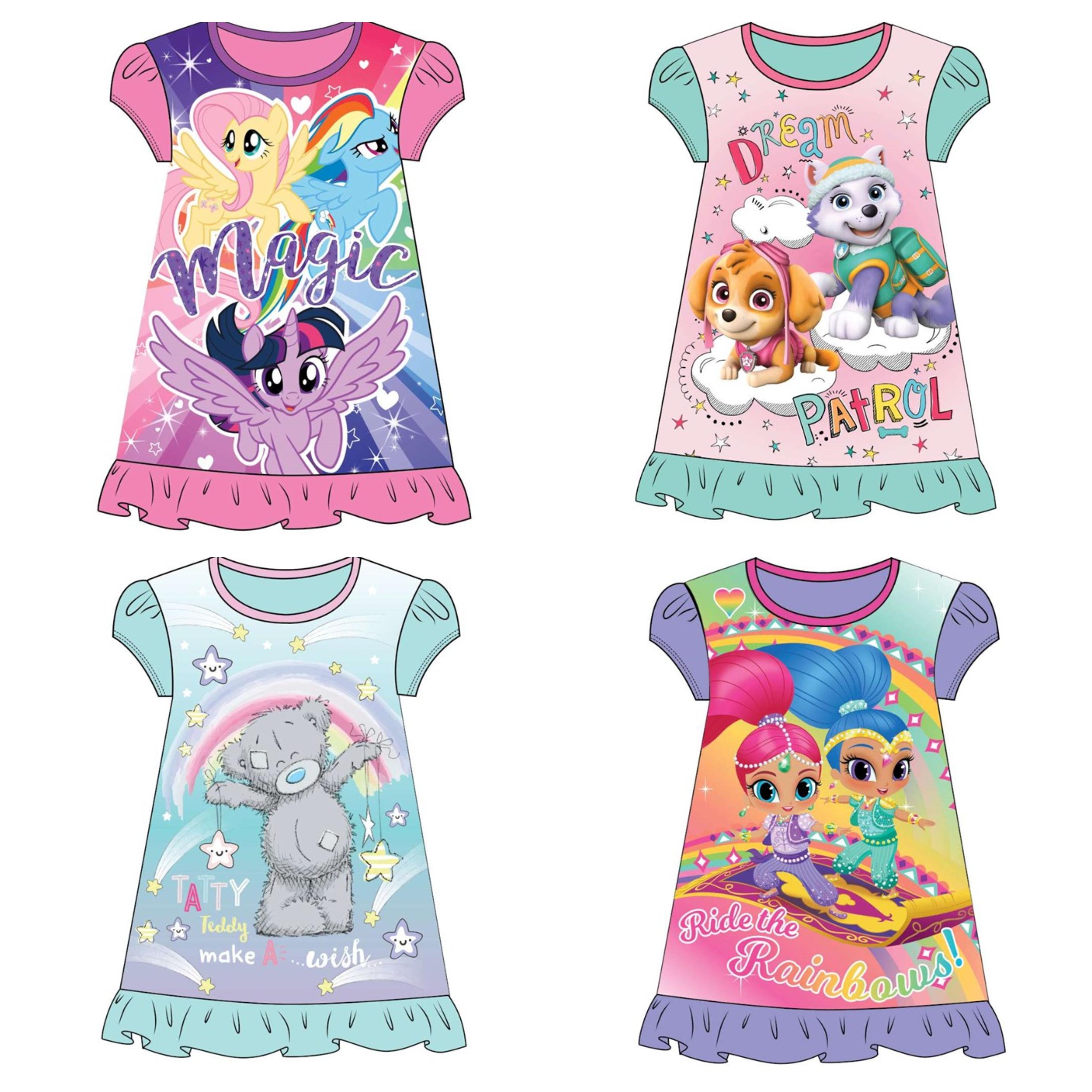 Me To You Girls Tatty Bear Nightie Nightdress Sizes 2 to 8 Years