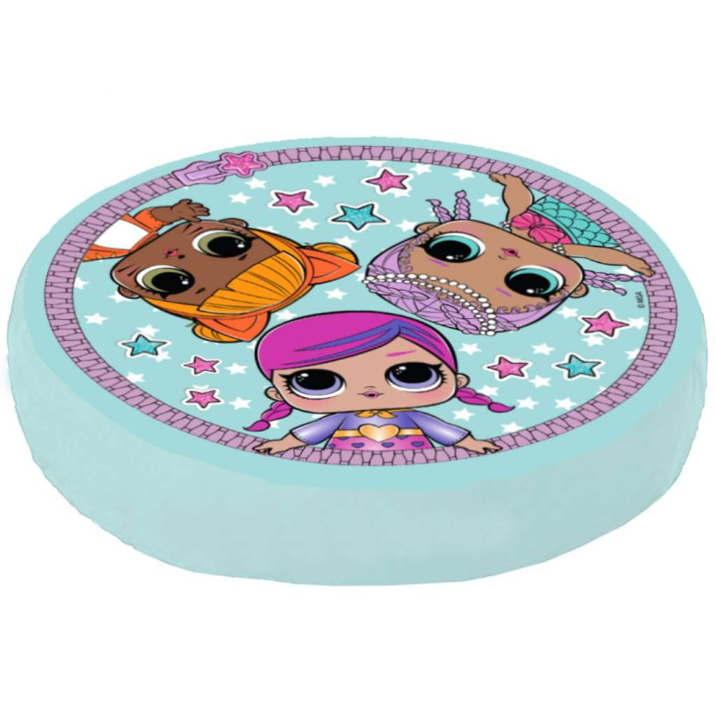 Lol Surprise Theatre Club Round Cushion Pillow Girls Kids