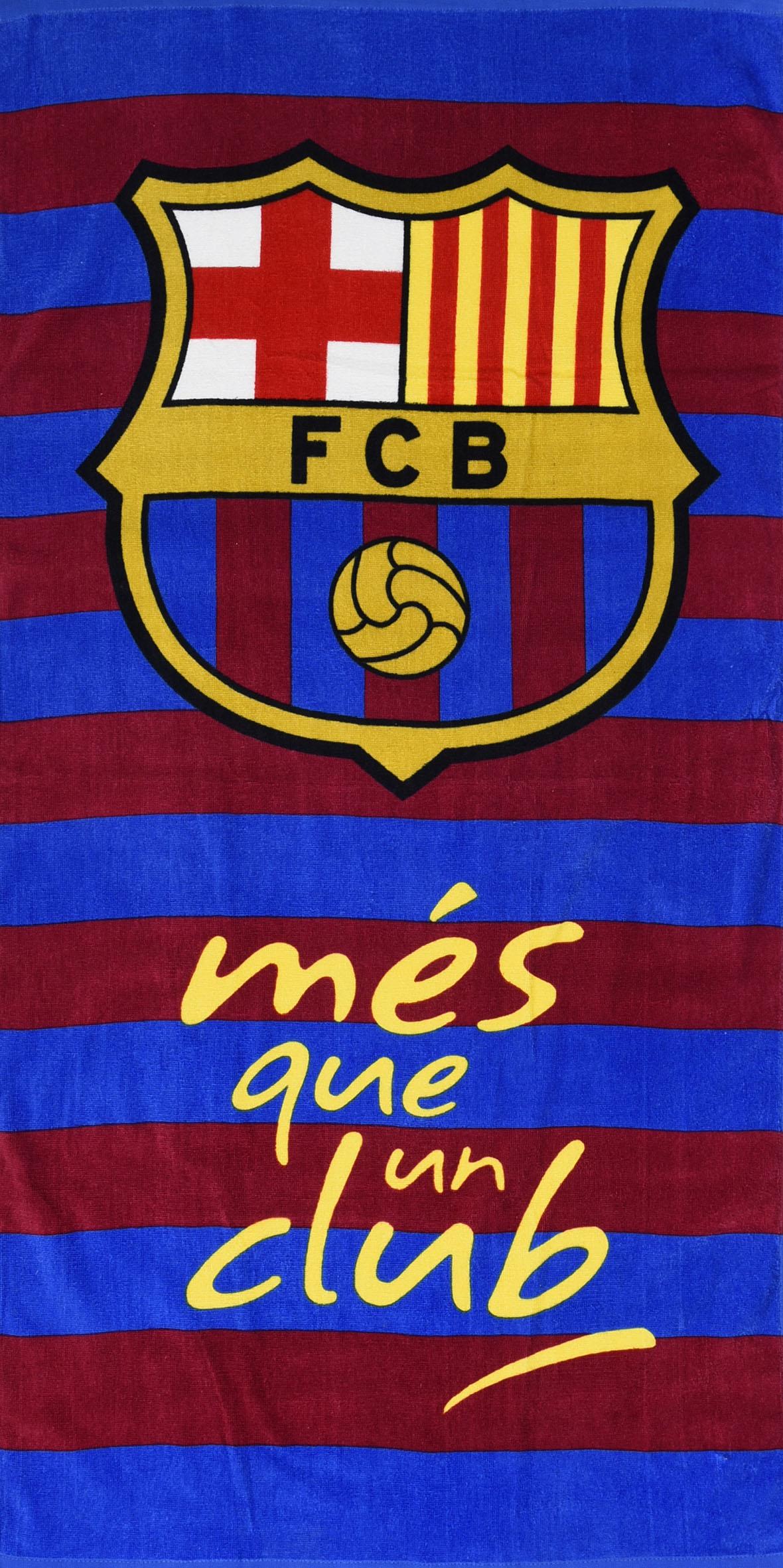 C.Fußballverein Strand Handtuch Jungen Kinder Ventilator Urlaub Neu Barcelona f