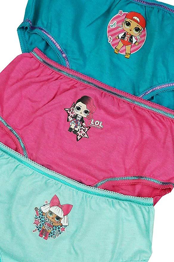 Filles Paw Patrouille Pack 3 Pantalon Culotte Slips Âge 3-4 Ans coton Rose Aqua