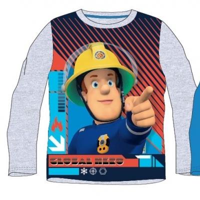 3-10 Years Official Fireman Sam Long Sleeve T-Shirt Top Boys Kids Child Gift