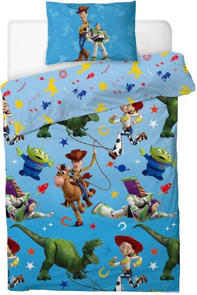 Disney Toy Story Housse de Couette r/éversible 4 Faces avec Housse de Couette et taie doreiller Assortie