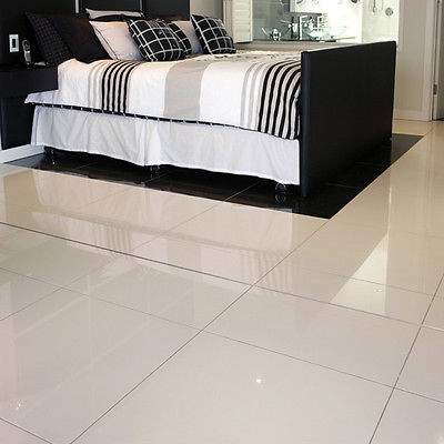 Super White Polished Porcelain Pre Sealed 80X80 FLOOR TILE