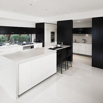 Artico White Glazed Polished Porcelain 60x60 Wall Floor Tile Ebay